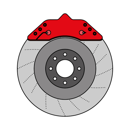 brake disc auto spare part mechanic system vector illustration