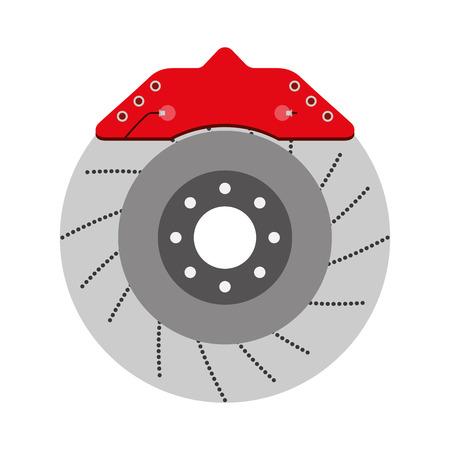 illustration vectorielle de disque de frein auto pièce de rechange système mécanique