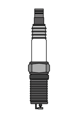 automotive spare part spark plug engine vector illustration 일러스트