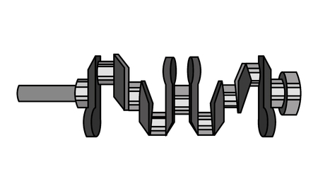 crankshaft spare part industry automotive vector illustration