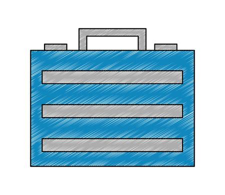 portfolio briefcase isometric icon vector illustration design Stock Illustratie