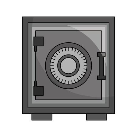 Cassetta pesante sicura icona illustrazione vettoriale design
