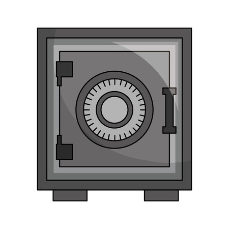 sicherer schwerer Kastenikonenvektorillustrationsentwurf