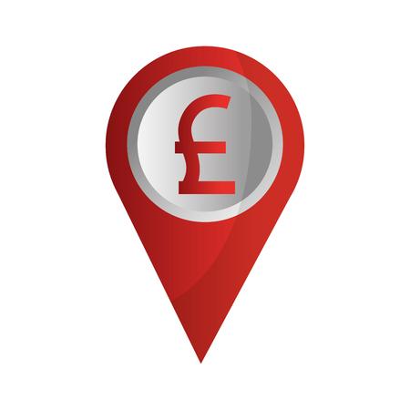 pin pointer location with symbol crypto money vector illustration design