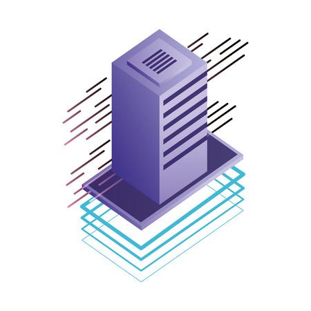 server data center isometric icon vector illustration design Stock Vector - 107202466