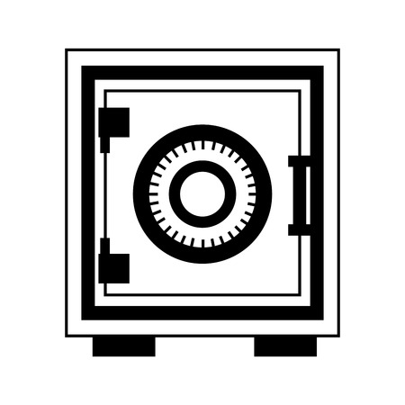 safe heavy box icon vector illustration design  イラスト・ベクター素材