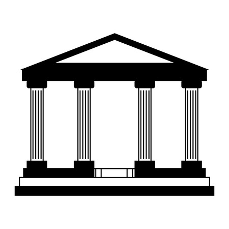 bank building isolated icon vector illustration design  イラスト・ベクター素材