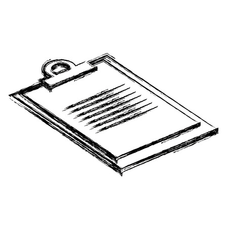 checklist clipboard isolated icon vector illustration design Banque d'images - 110542571