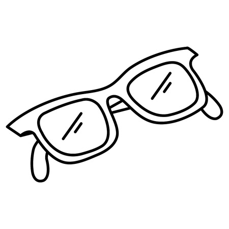 eye glasses isolated icon vector illustration design Foto de archivo - 110542612