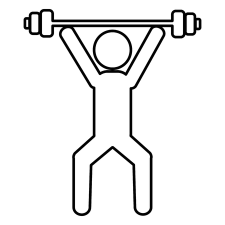 human silhouette lifting weight vector illustration design Imagens - 110518687