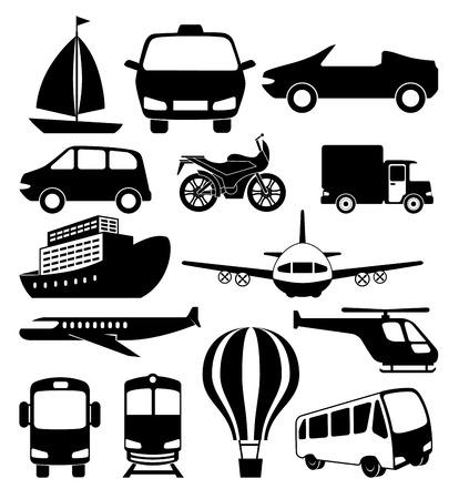 transport logistique set véhicules vector illustration design Vecteurs