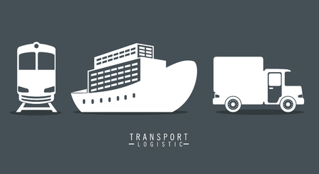transport logistic set vehicles vector illustration design 矢量图像