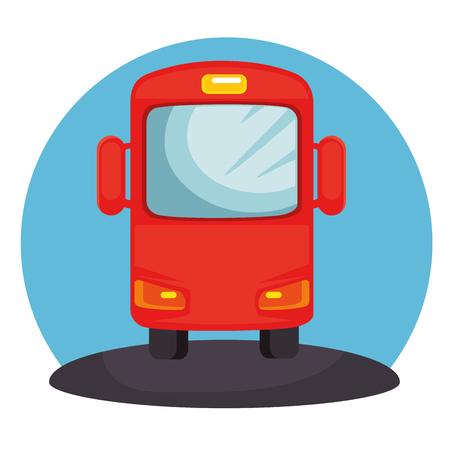 Diseño de ilustración de vector de icono de transporte público de autobús