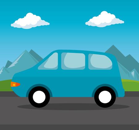 Auto Fahrzeug Transport Symbol Vektor-Illustration Design