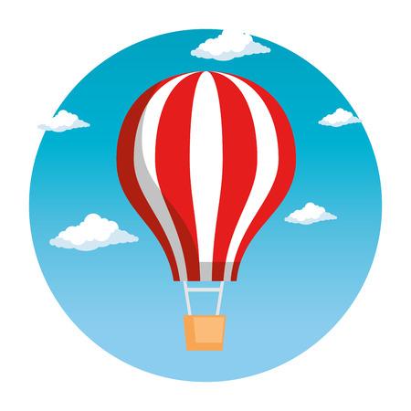 ballon, air, voler, chaud, vecteur, illustration, conception Vecteurs