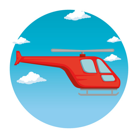 helicopter flying transport icon vector illustration design