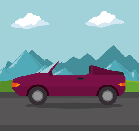 car convertible transport icon vector illustration design