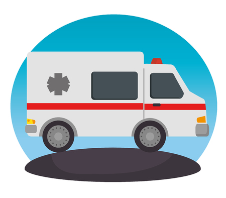 ambulance vehicle transport icon vector illustration design