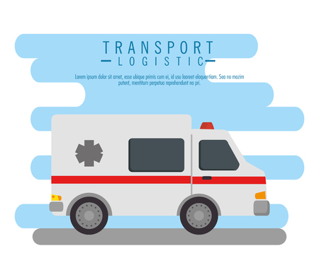 ambulance vehicle transport icon vector illustration design Ilustração