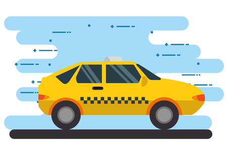 taxi transport public icon vector illustration design