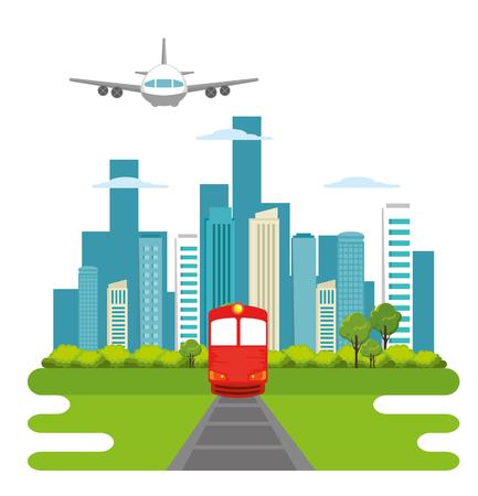 pociąg transport publiczny ikona wektor ilustracja projekt Ilustracje wektorowe