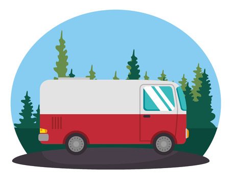 van vehicle transport icon vector illustration design