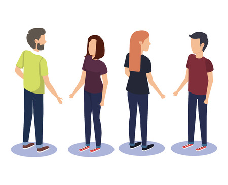 group of people teamwork vector illustration design