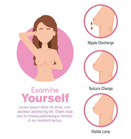 woman figure with breast cancer vector illustration design Ilustracja