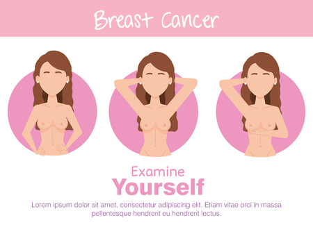 women figures with breast cancer vector illustration design