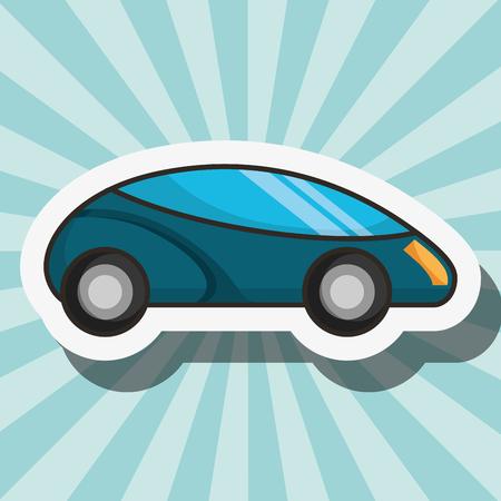 blue background car driving colors vector illustration