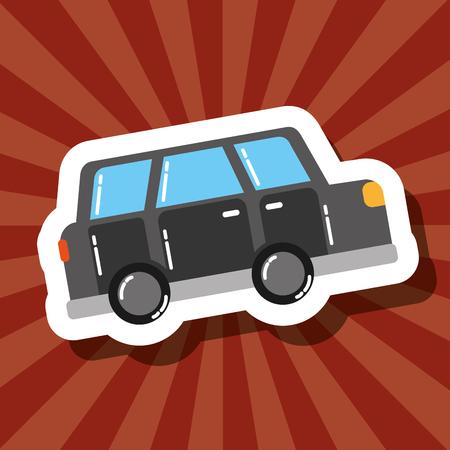 love visit london car transportation vector illustration