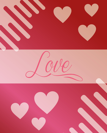 valentines day love sign hearts decoration romantic vector illustration
