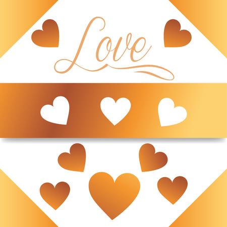 valentines day love hearts card romantic color vector illustration Illustration