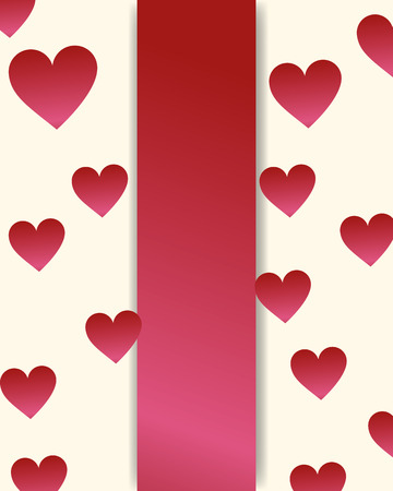 valentines day love hearts frame background vector illustration
