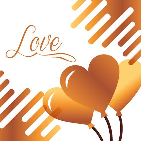 valentines day love balloons hearts vector illustration Illustration