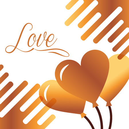 valentines day love balloons hearts vector illustration Stock Vector - 110446557