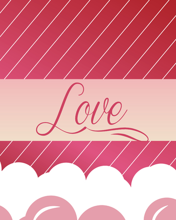 valentines day love sign hearts colors romantic vector illustration