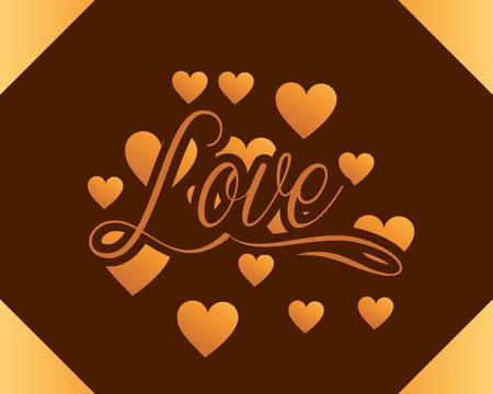valentines day love hearts loving romantic card vector illustration Иллюстрация