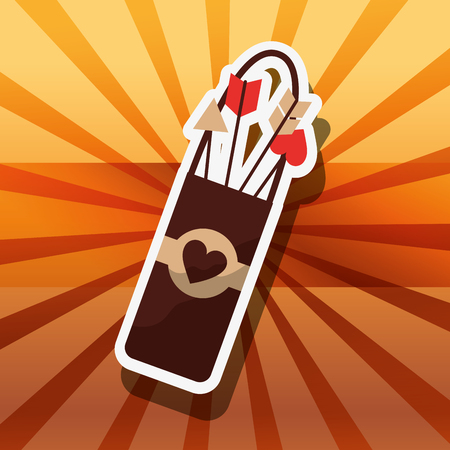 valentines day love arrows arc vector illustration Illustration