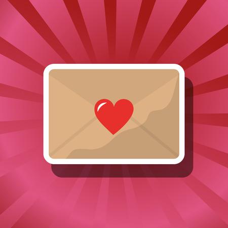 valentines day love letter loving romantic vector illustration