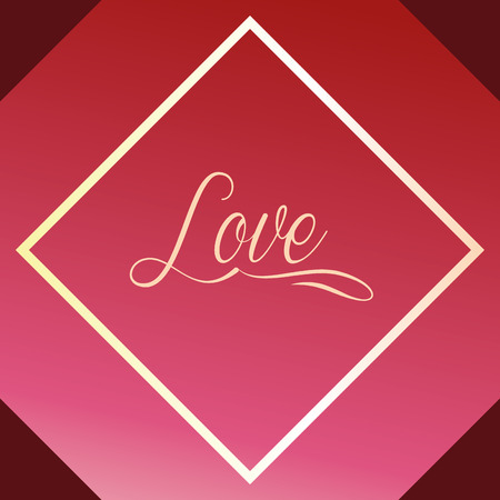 valentines day love diamond figure sign vector illustration Illustration