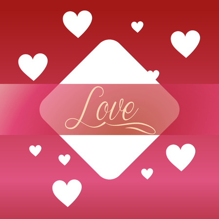 valentines day love figure sign hearts background vector illustration