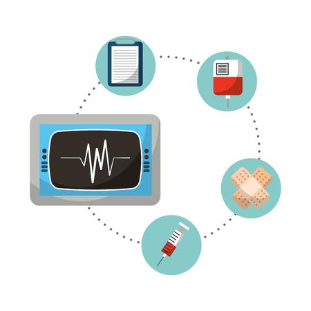 medical healthcare set icons vector illustration design Illustration