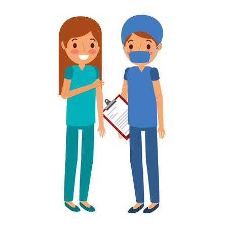 surgery staff medical characters vector illustration design Illustration