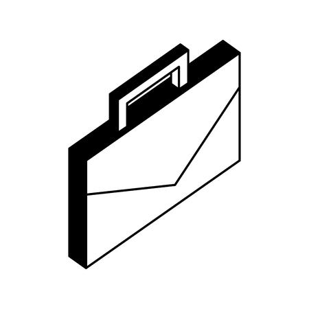 portfolio briefcase isometric icon vector illustration design Standard-Bild - 110446809
