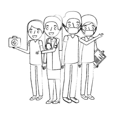 personel medyczny avatar postać wektor ilustracja projekt