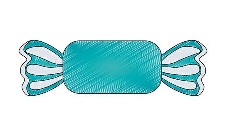Diseño de ilustración de vector de icono aislado de caramelo dulce Ilustración de vector