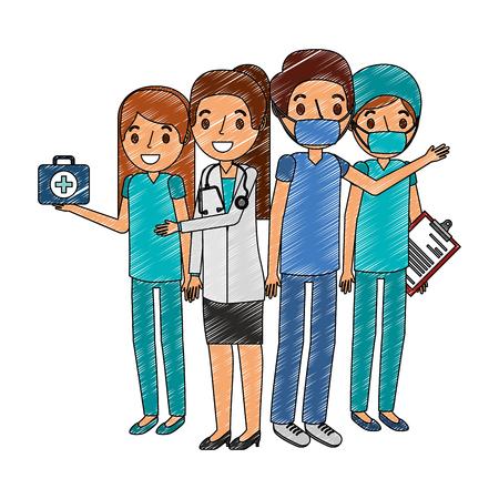 medical staff avatar character vector illustration design