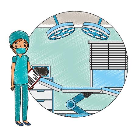 surgeon in operating theater character vector illustration design Vektorové ilustrace