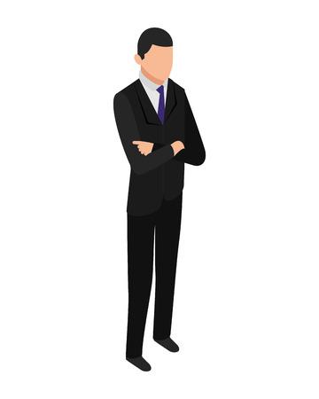 elegant businessman character icon vector illustration design Ilustrace